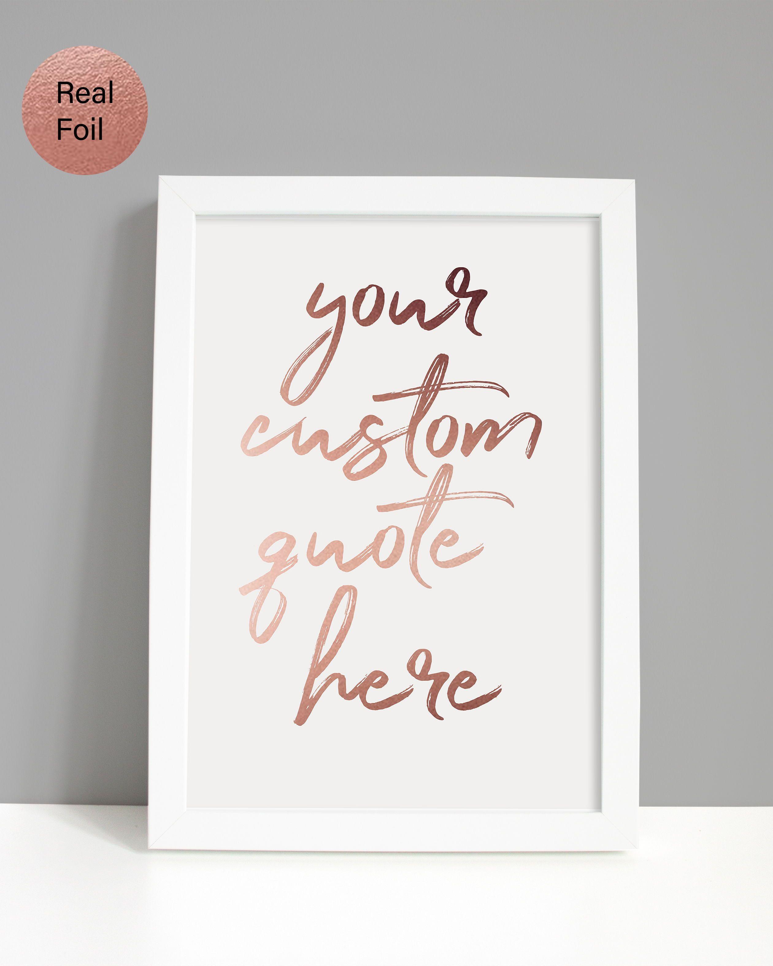 a60ac35f8c0a5 Custom quote print, Custom signs, Custom sign, Custom quote frame ...