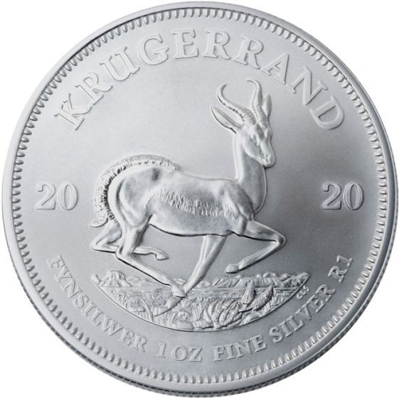 2020 1 Oz South African Silver Krugerrand Coin In 2020 Silver Krugerrand Silver Coins For Sale Silver Bullion Coins