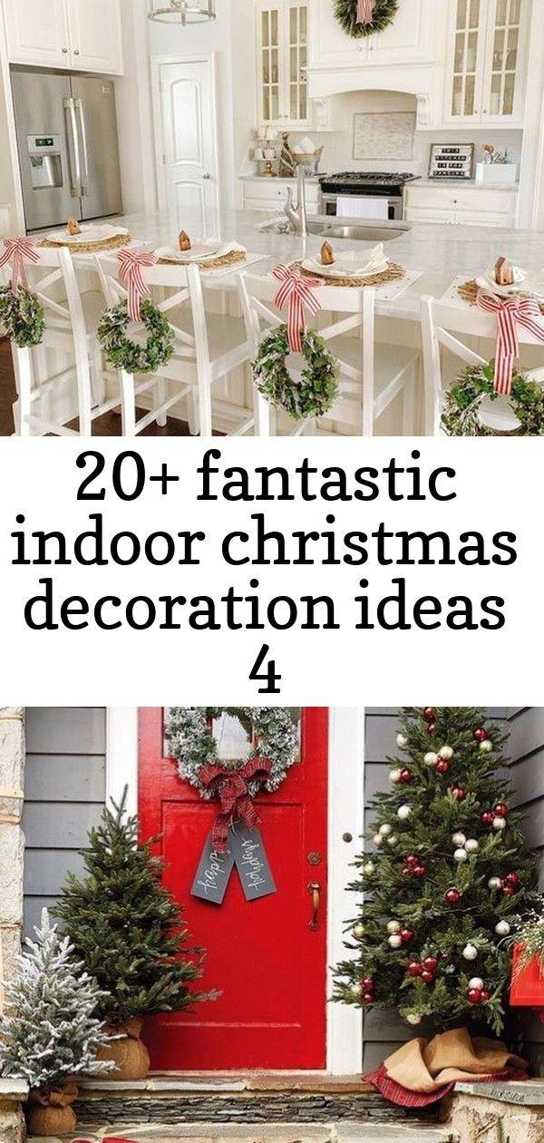 20+ fantastic indoor christmas decoration ideas 4 #christmasdoordecorationsforwork