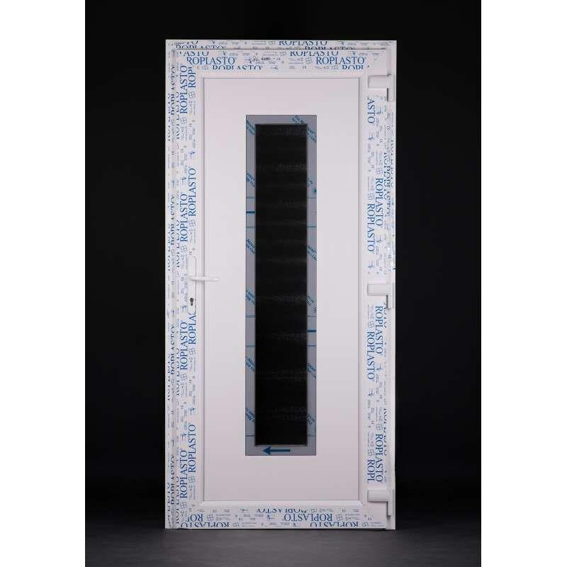 Stainless steel 50 plastic Entrance door 98x208cm # white