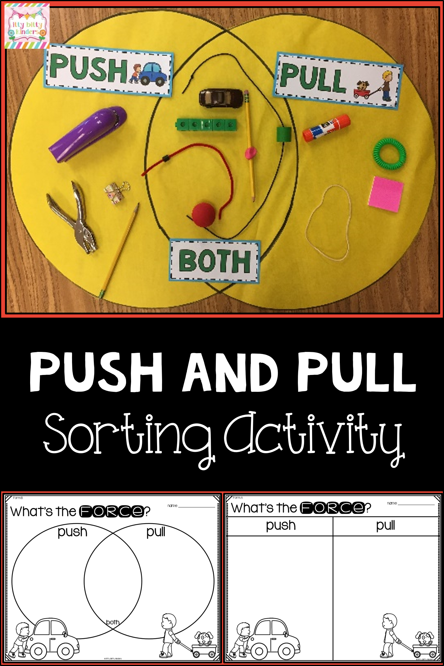 Force And Motion Push And Pull Venn Diagram In