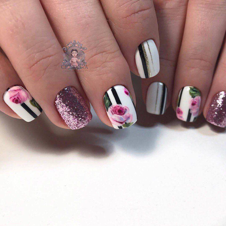 Nail Art 4007 Nail Designs Spring Flower Nails Spring Nail Art
