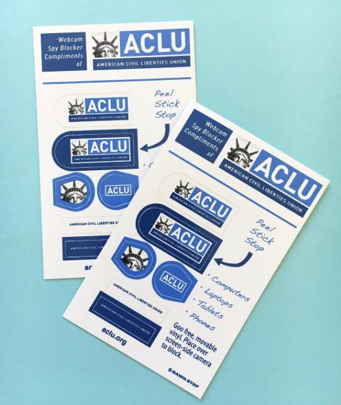 ACLU Custom Webcam Covers Webcam Blockers Dont Use Tape Use - Custom vinyl decal usage