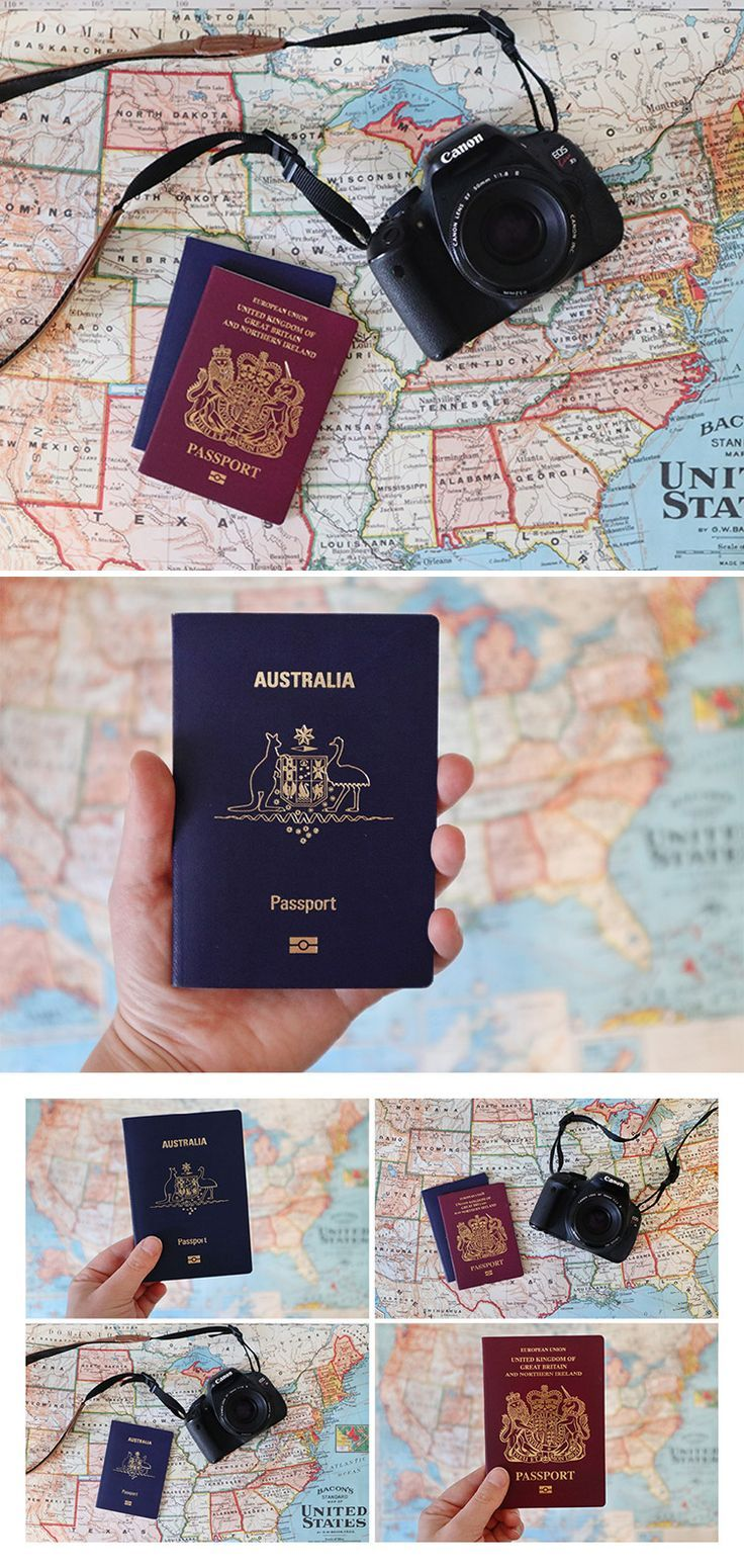 Passport And Camera Photo Pack Of 6 High Resolution Photos On Creative Market Variations Include Passports Australia And Uk And Canon Dslr C Travel Stationery