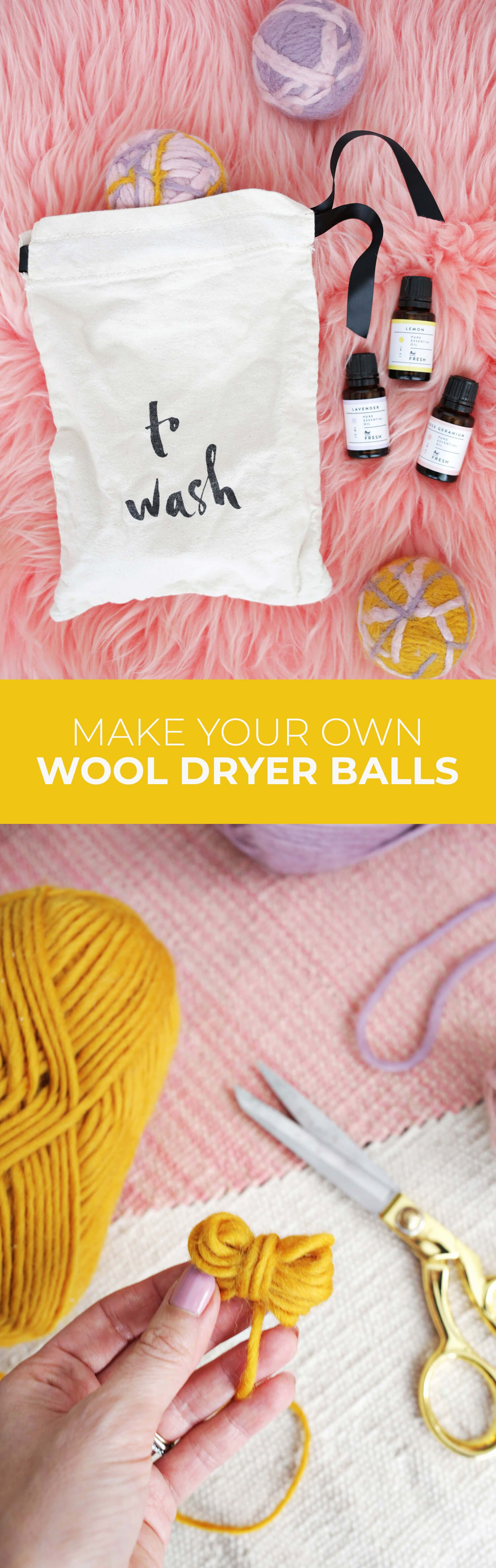 Make Your Own Set of Wool Dryer Balls! – A Beautiful Mess
