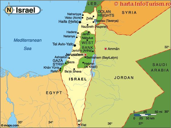 Israel The Jewish State Of Israel Comprises Much Of The Historic