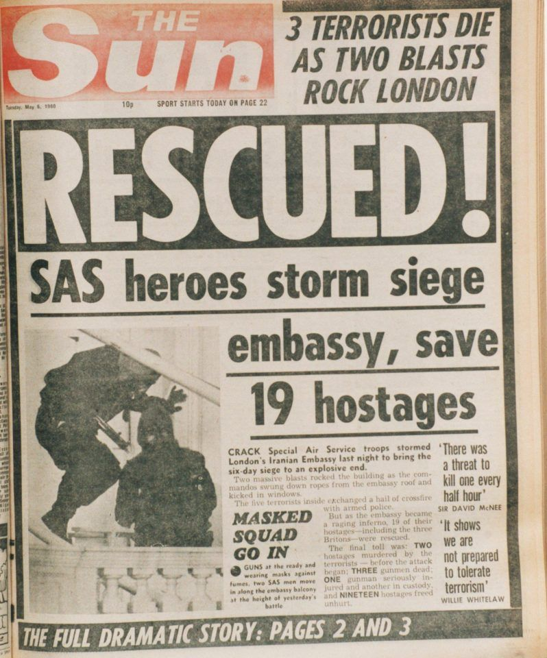 Sas Hero Of 1980 Iranian Embassy Siege Bob Curry Left