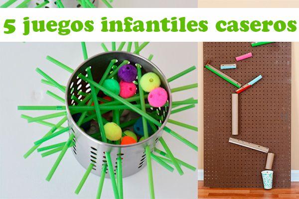 5 Juegos Infantiles Caseros A Jugar Pinterest