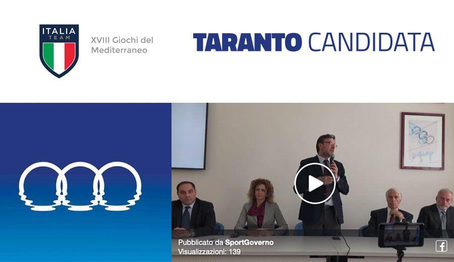 """Il Coni annuncia """"Taranto candidata ad ospitare i Giochi"""