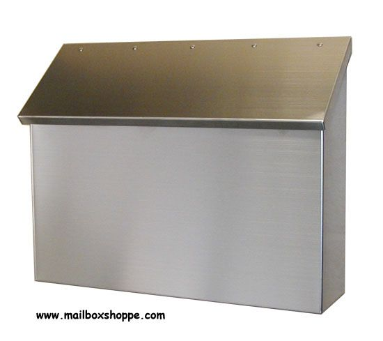 Stainless Steel Upright Mailbox Wall Mount Mailbox
