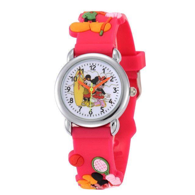 2c269abc4 Cartoon Clock Hello Kitty Watch Girl Children Lovely Pink Dress Wrist Watch  Kids Cute Child Brand Silicone Relogio Montre Enfant