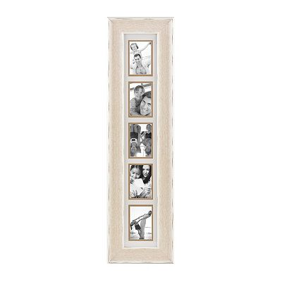 Distressed White Driftwood Collage Frame