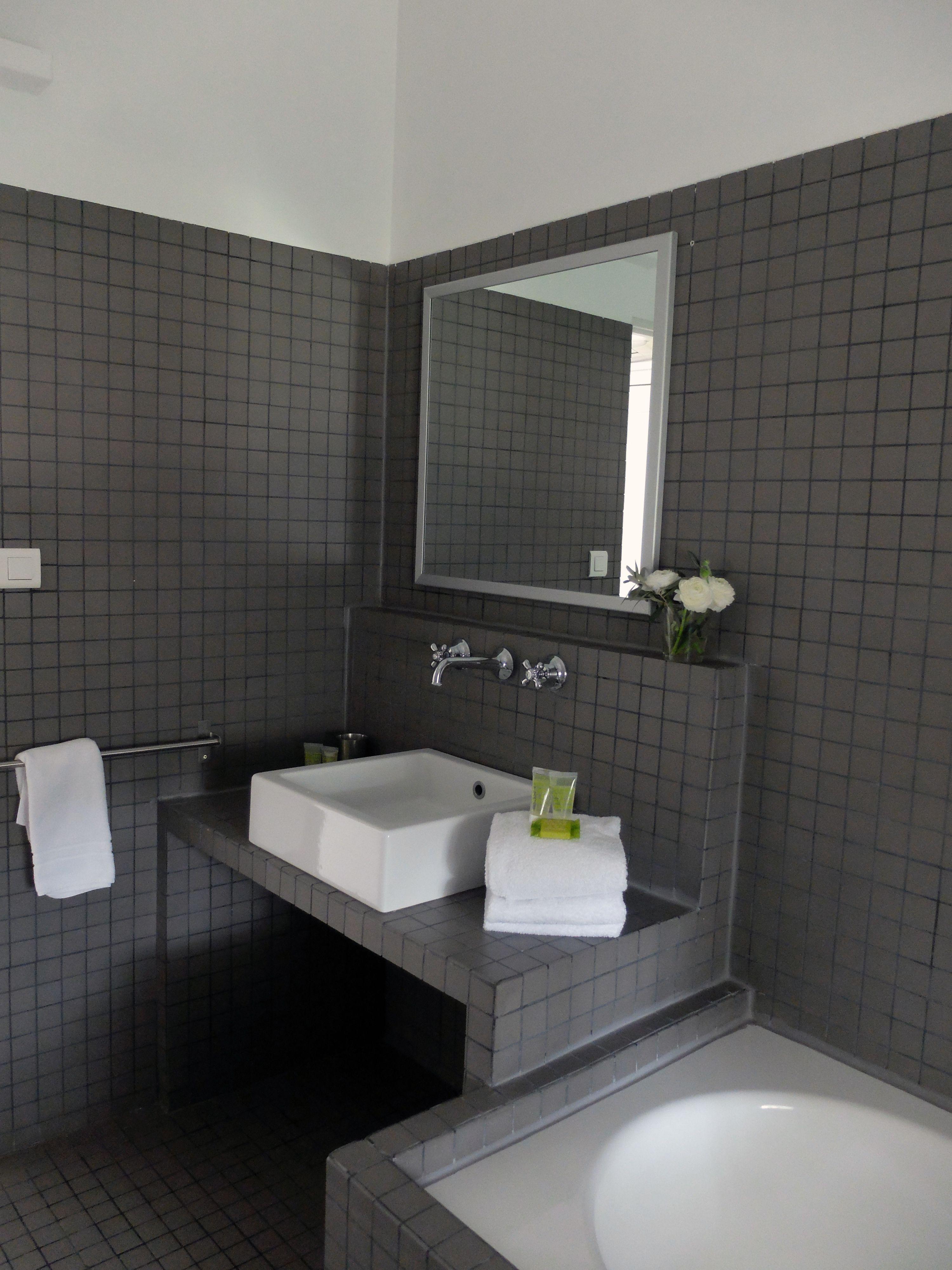 Salle de bain, Chambre de charme Lune, Mas des Songes, South of France, Provence, Cocooning
