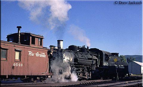 Colorado Railroads - In a rather historic scene, Rio Grande narrow