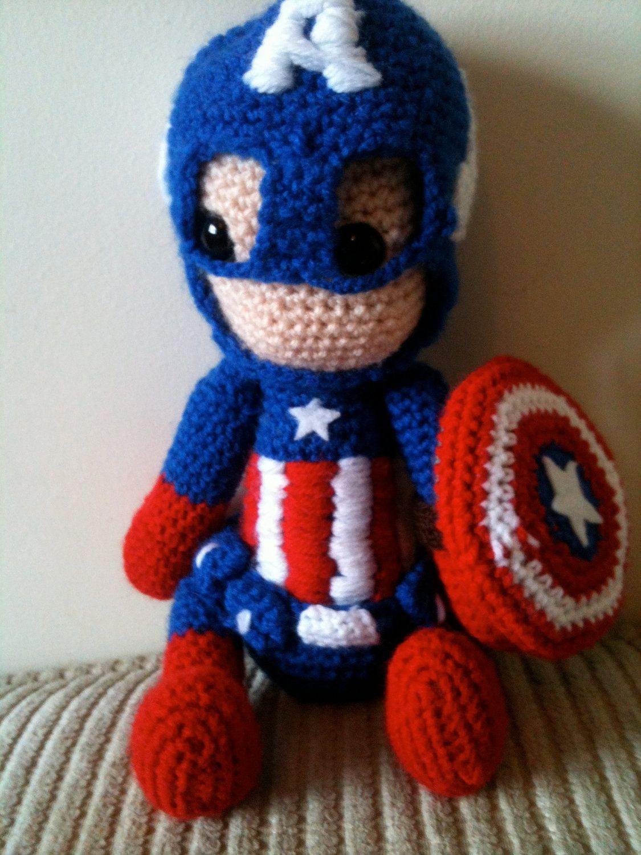 Omg Captain America Avengers Marvel Crochet Doll 3895 Via Etsy