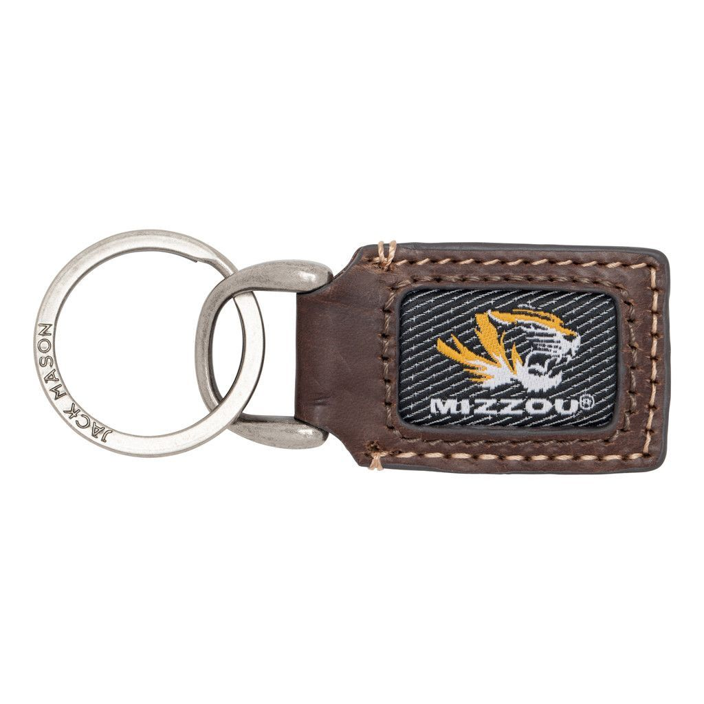 Missouri Tigers Genuine Leather Alumni Key Fob