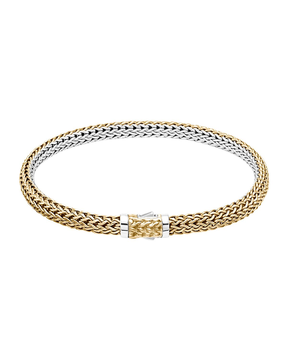 John Hardy Classic Chain Gold & Silver Small Reversible Bracelet ySuicAL