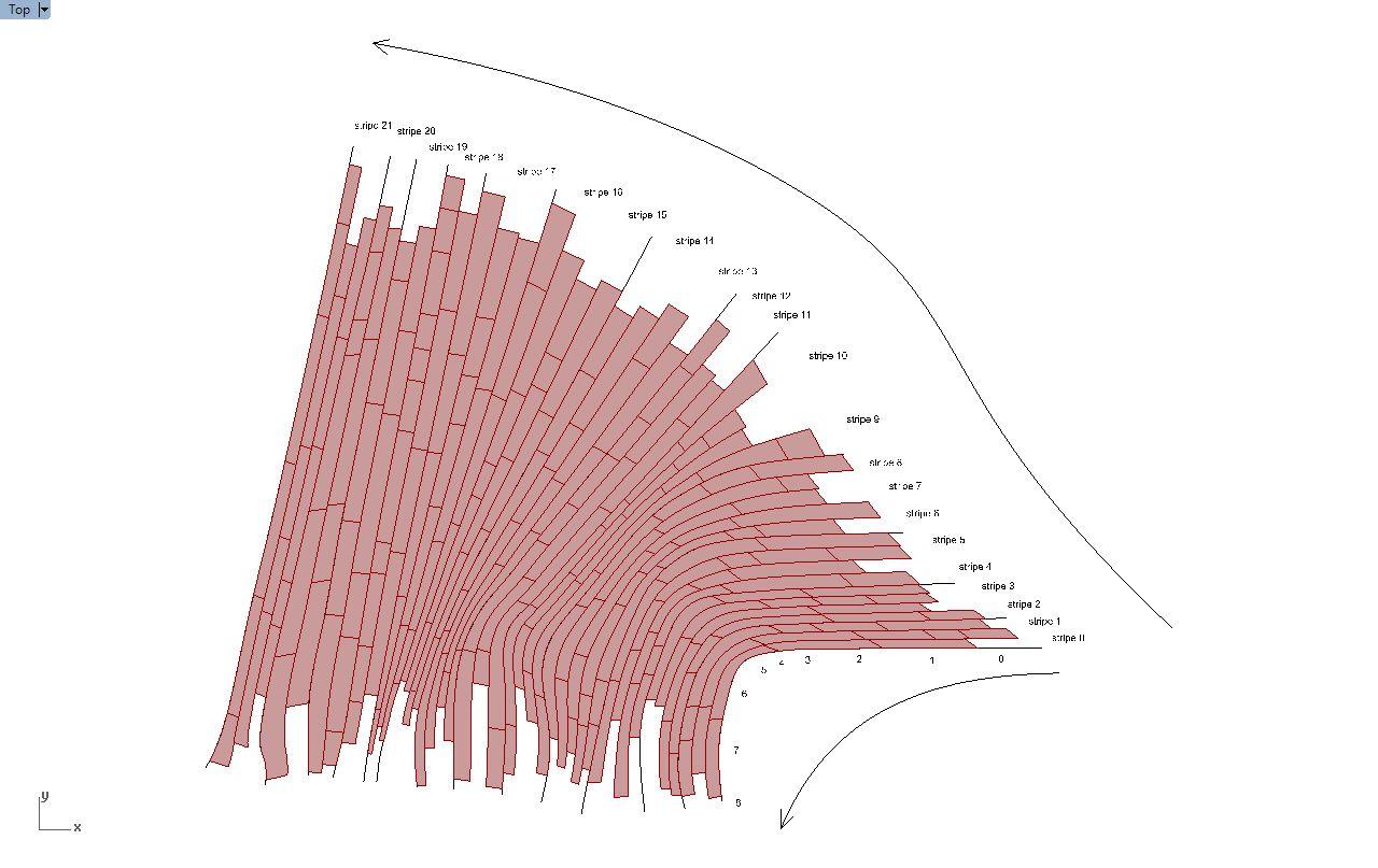 Grasshopper from traces to grid ras al khaimah for Architecture parametrique
