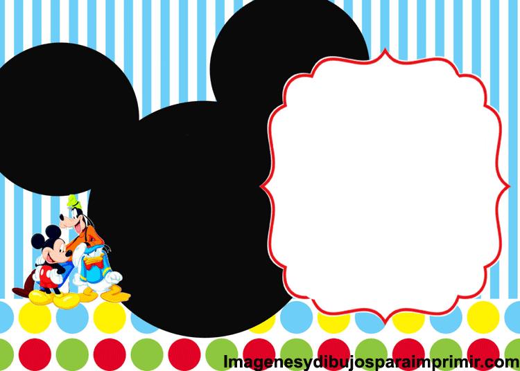Tarjetas De Cumpleaños De Mickey Para Imprimir Gratis A