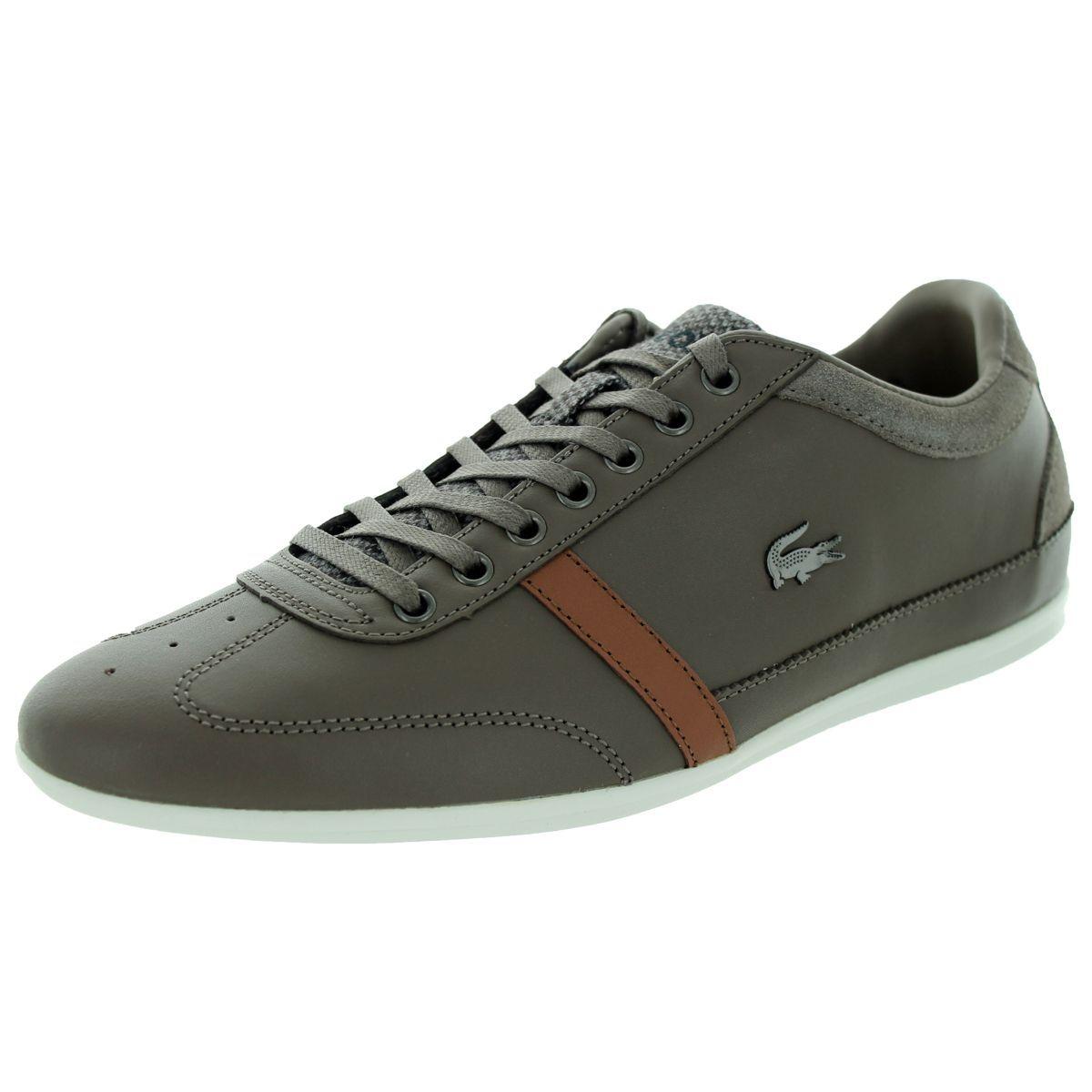 6a9227f6ca2f35 Lacoste Men s Misano 32 Srm Khaki Casual Shoe