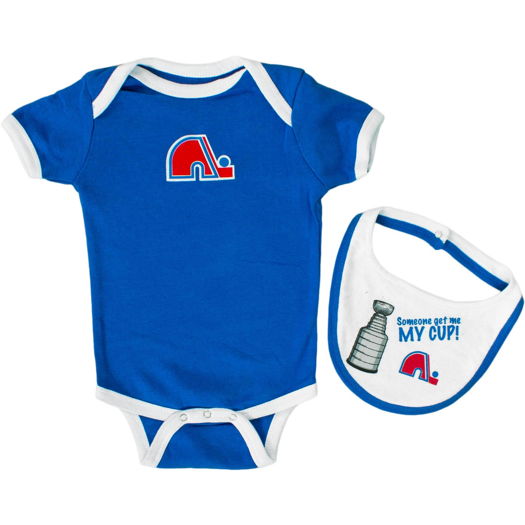 Quebec Nordiques Baby 2-pc Knick Knack Creeper And Bib Set | Aunt ...