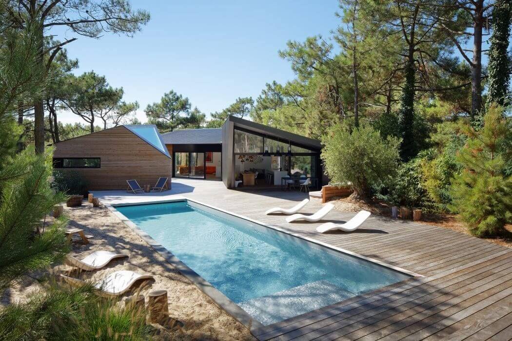 Holiday House in Cap Ferret by Atelier Du Pont Holiday Pools - location maison cap d agde avec piscine