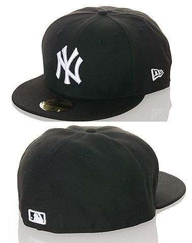 New York Yankee Mlb Fitted Cap Black New Era Black Accessories Cap New Era Fitted