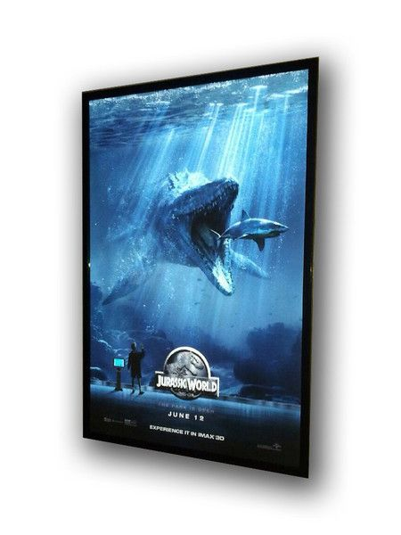 black 27x40 slim led light box movie poster frame cinema light box poster frames in 2019 led. Black Bedroom Furniture Sets. Home Design Ideas