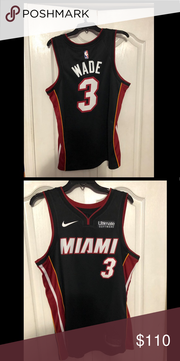 new style acc8a 7e27a Nike miami heat away jersey d wade swingman jersey never ...