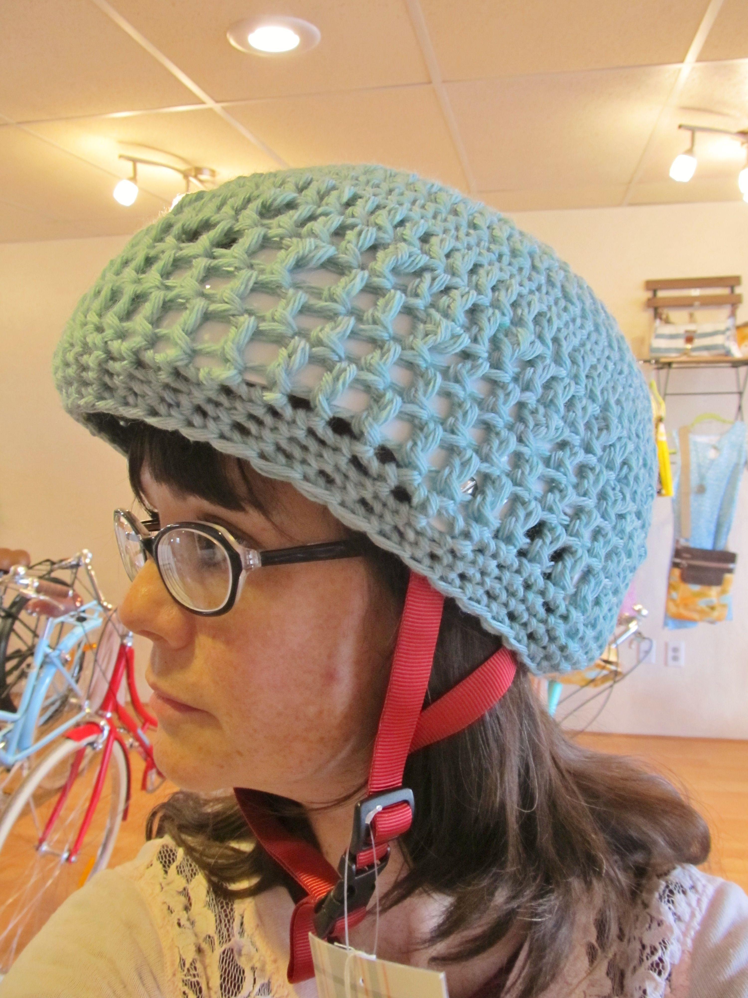 Inspiration! Hand-crocheted helmet cover, cute helmet cover ...