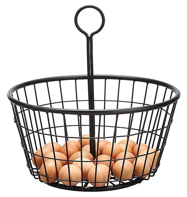 Metal Carrying Basket, Black | Downstairs | One Kings Lane