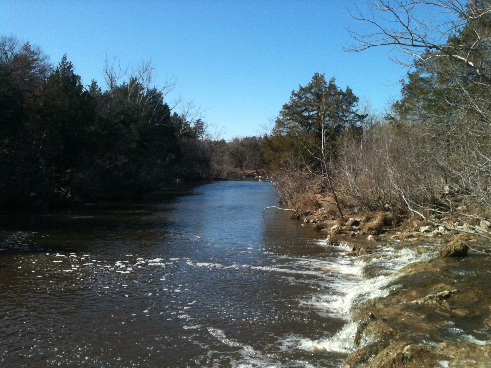 Great place to fish for trout at the blue river near for Fly fishing oklahoma