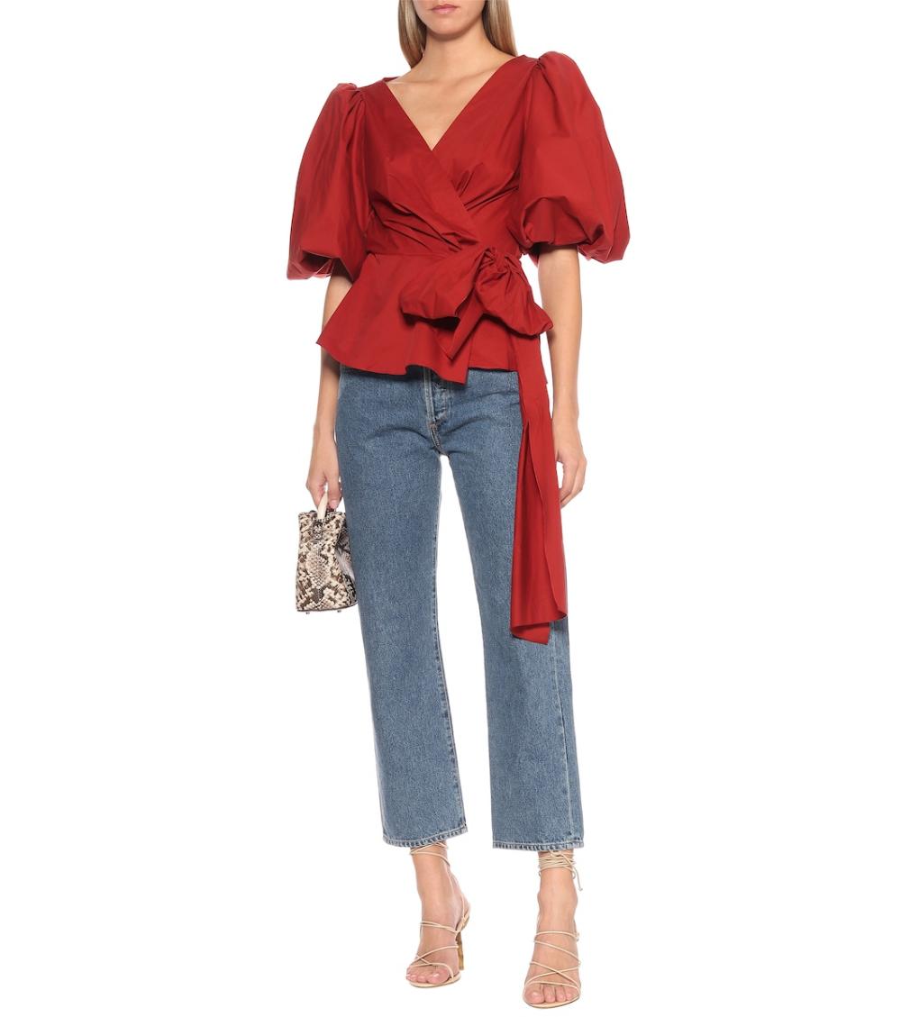 El Amor De Mi Tierra cotton blouse in red