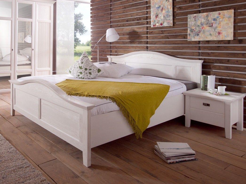 Schlafzimmer Pinie ~ Doppelbett rome pinie weiss einrichtungsideen