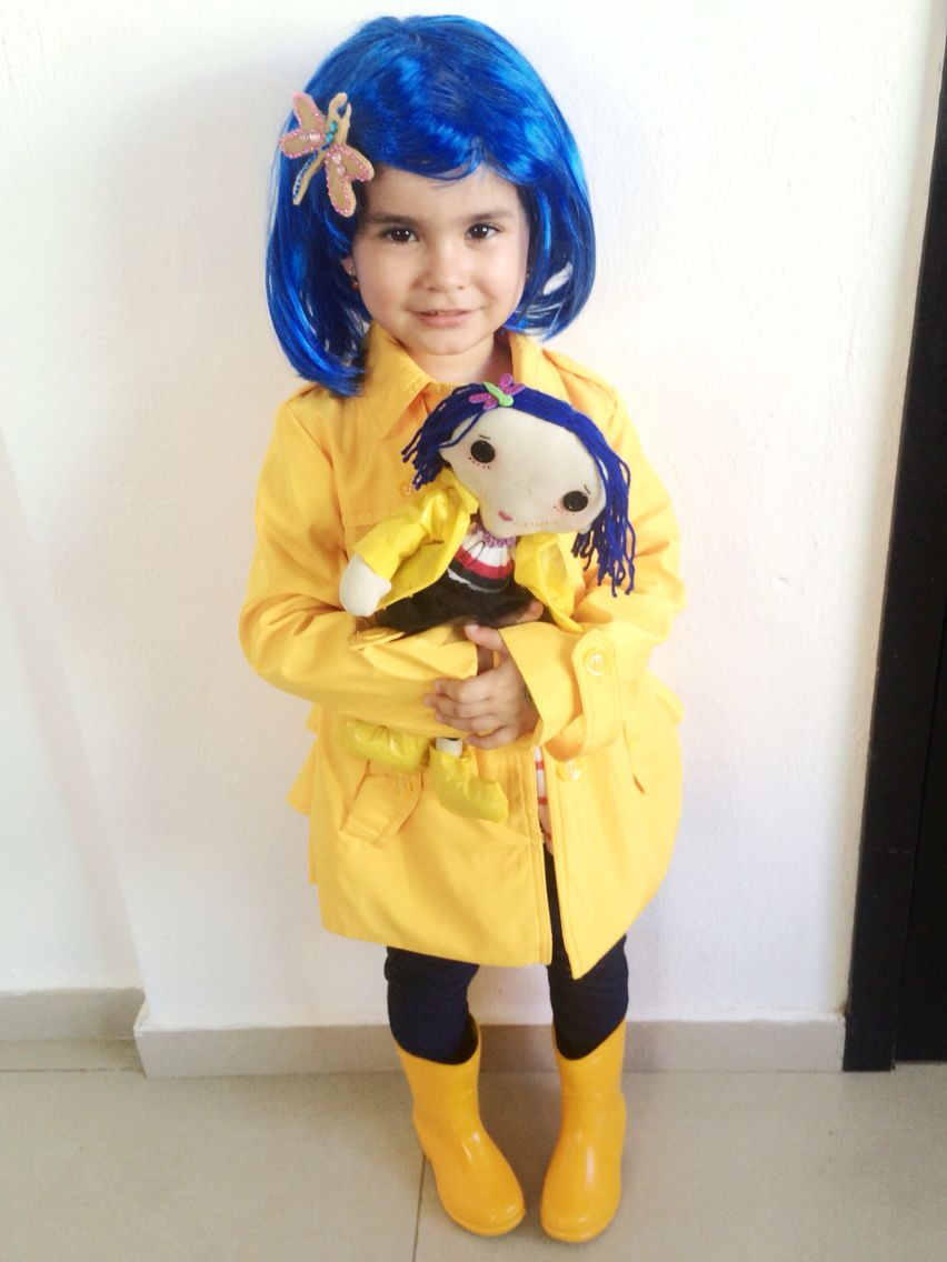 Coraline Costume Toddler Girl Kids Coraline Toddler Halloween Costumes Halloween Costumes For Kids Coraline Halloween Costume
