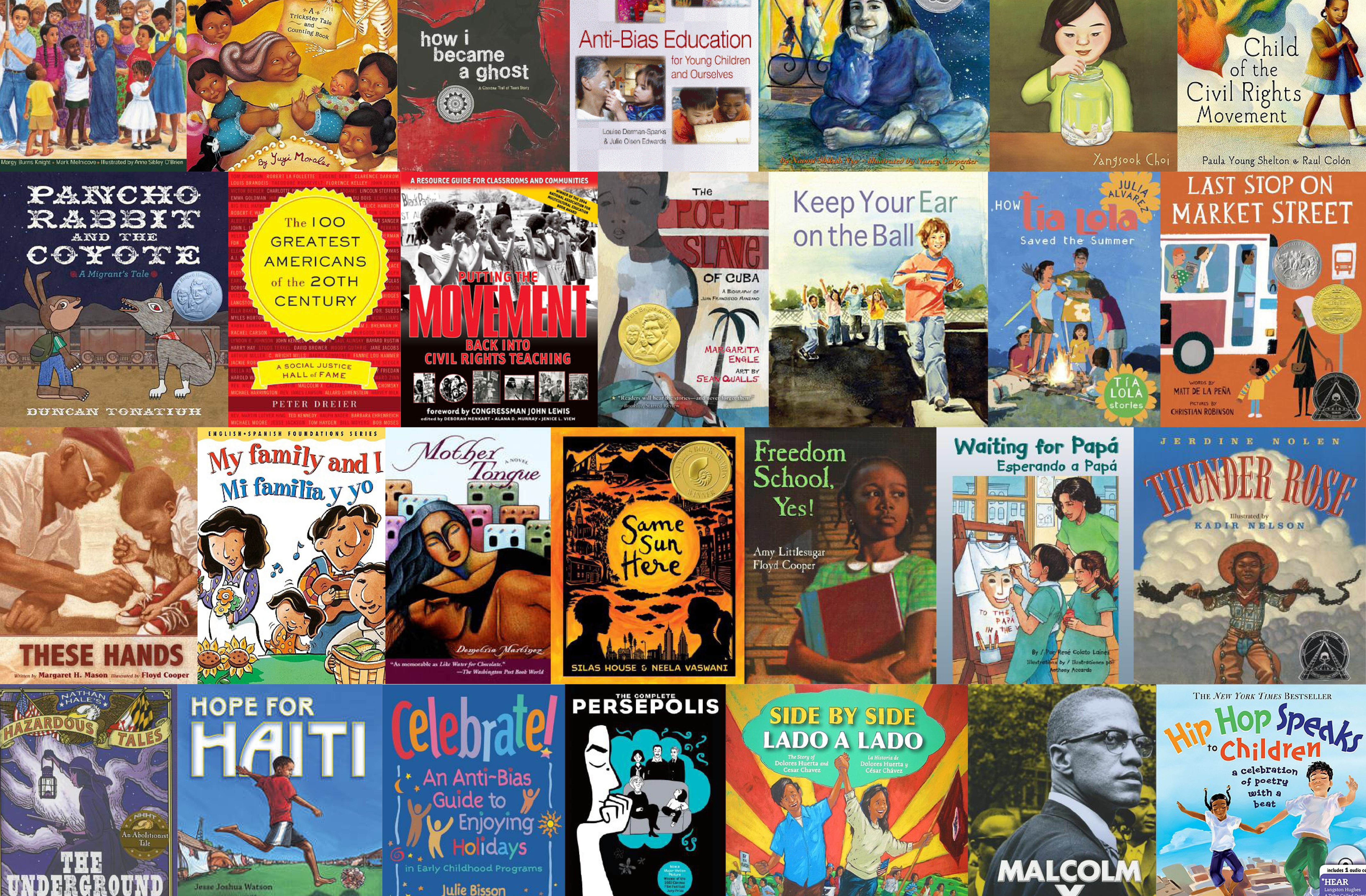 Curated Booklists Teaching For Change Has Carefully Selected The Best Multicultural And Social Justice Books F Multicultural Books Social Justice Multicultural