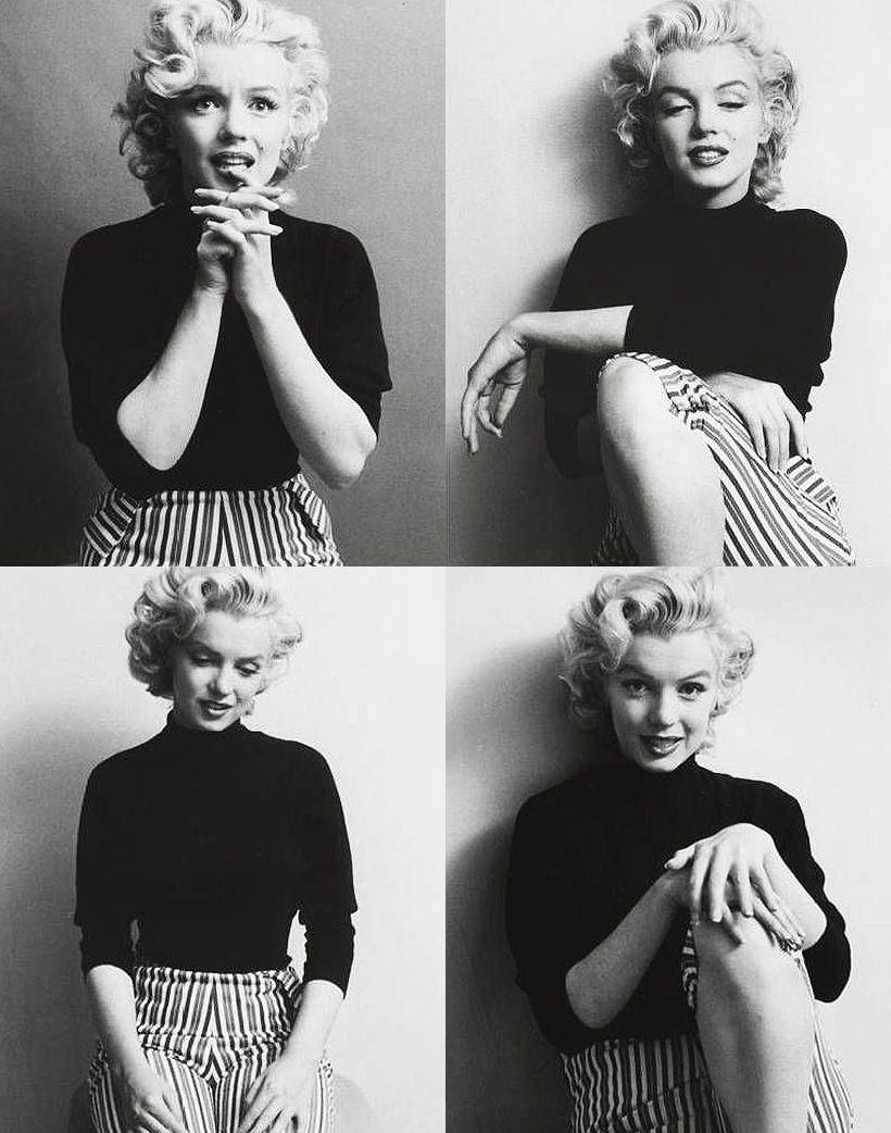 Marilyn Monroe: so charming in stripes!