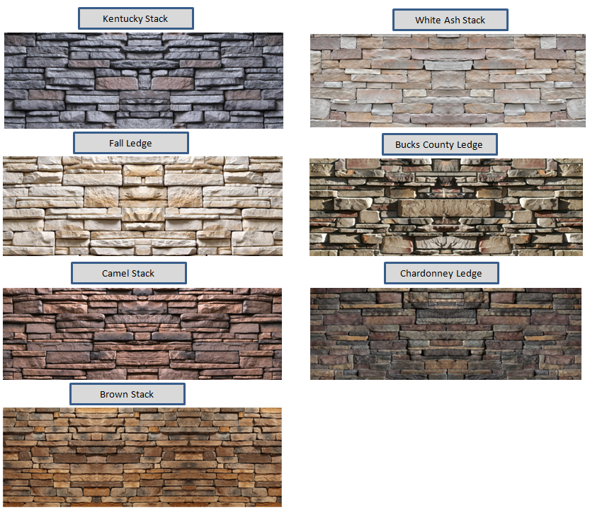 Stone exterior finishes stone color options for the - Types of exterior finishes for homes ...