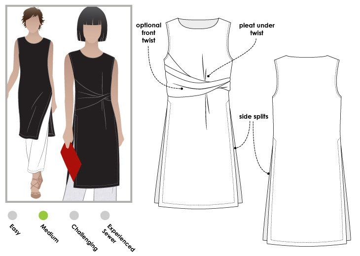 StyleArc Tania Tabard sewing pattern | Patrones | Pinterest