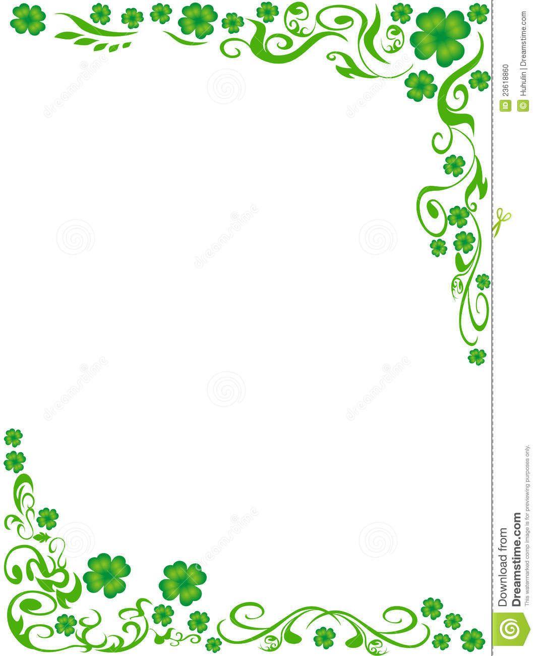 Four Leaf Clover Border Clip Art Ndash 101