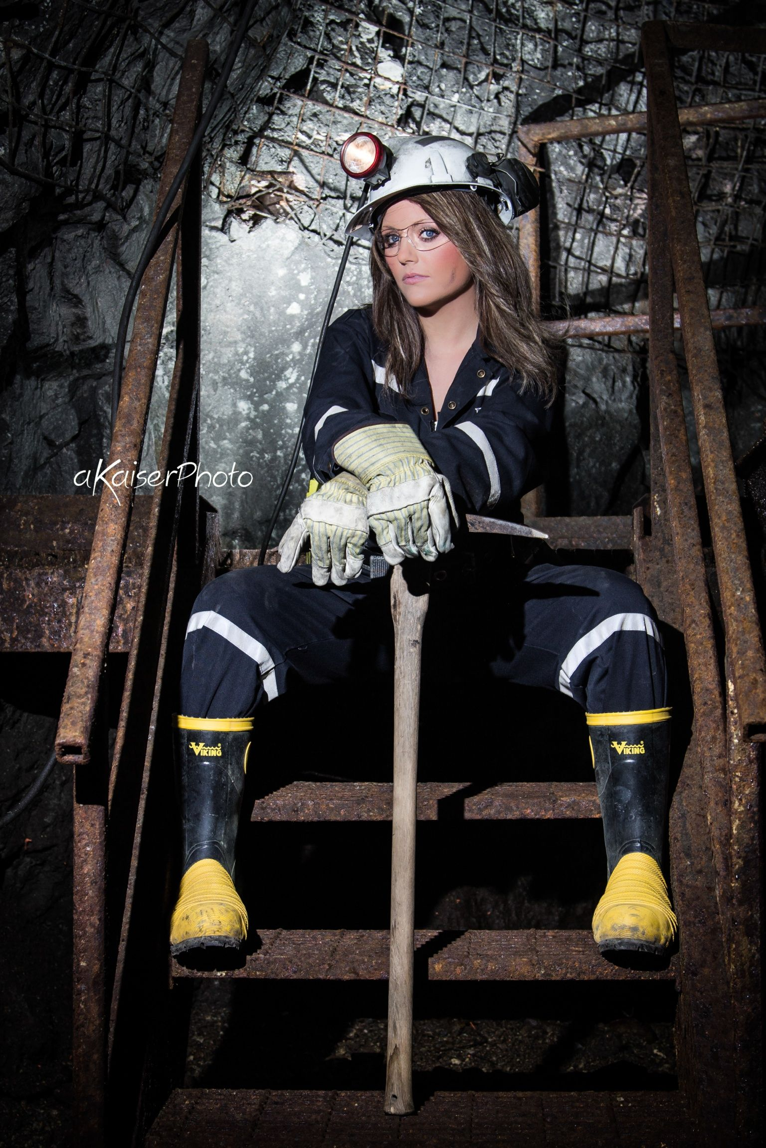 Underground Mining meets Modelling. **This photo was taken