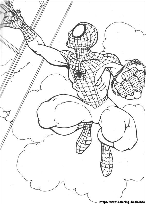 Spiderman Printable Coloring Page