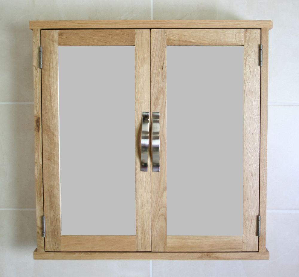 Solid Oak Wall Mounted Bathroom Cabinet 352 Wall Mounted Bathroom Cabinets Mirror Cabinets Bathroom Wall Cabinets