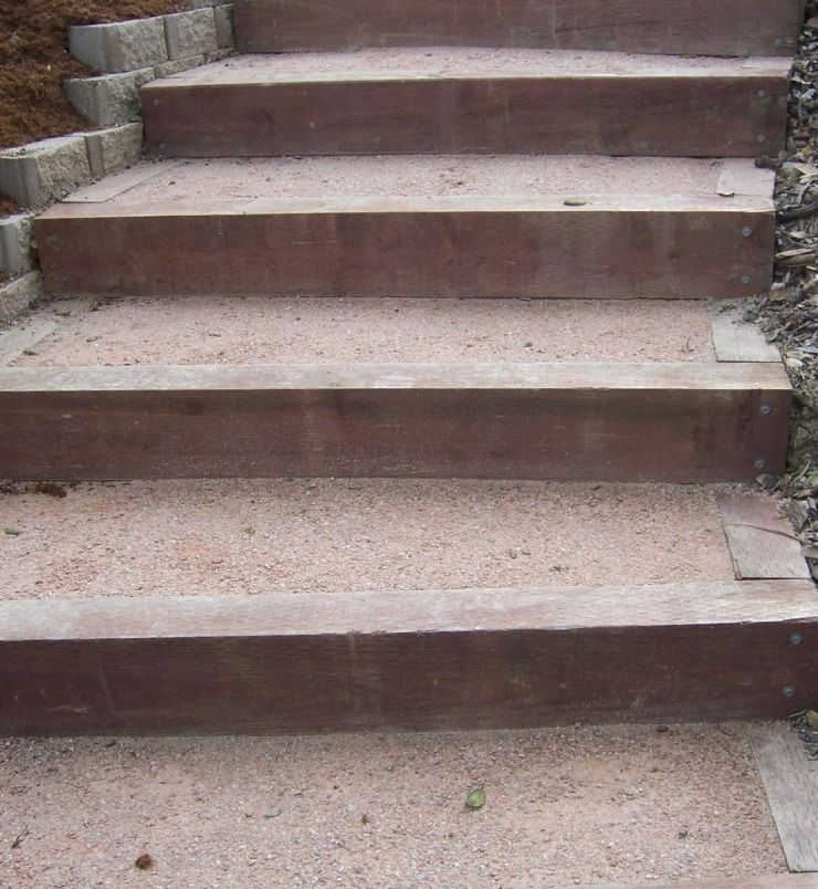 Photo Landscape Timber Stairs Timber Stair Landscape Timbers Landscape Stairs