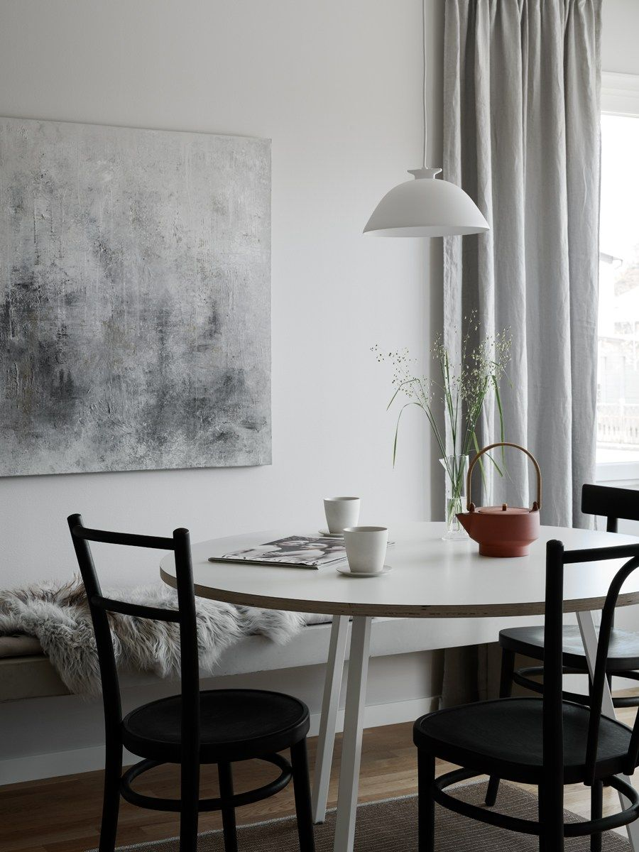 Warm And Stylish Home  Via Coco Lapine Design Blog  Living Room Captivating Dining Room Wall Art Inspiration Design