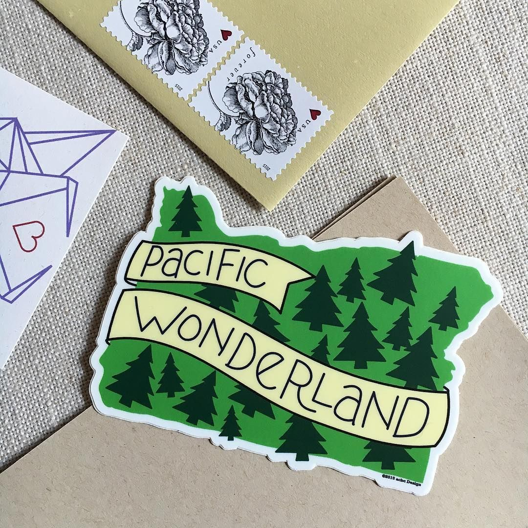 sharing the #PNW love with this vinyl sticker!