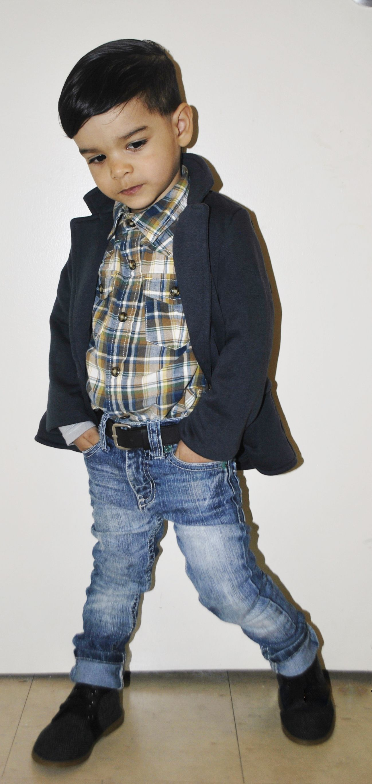 osh kosh western shirt H & M blazer guess jeans gap shoes Matias