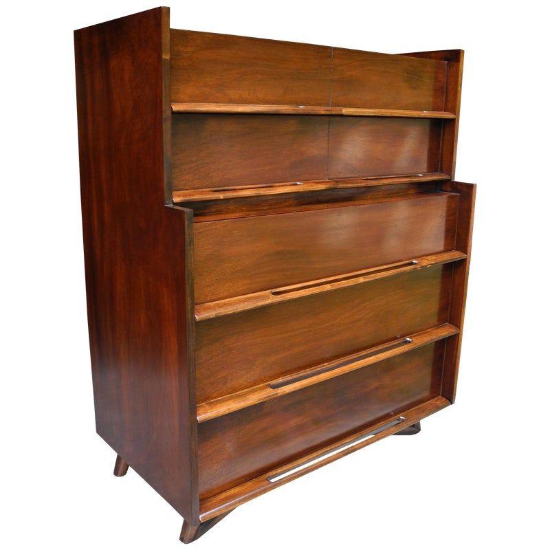 Best Mid Century Modern Highboy Or Tall Dresser By Edmond J 640 x 480