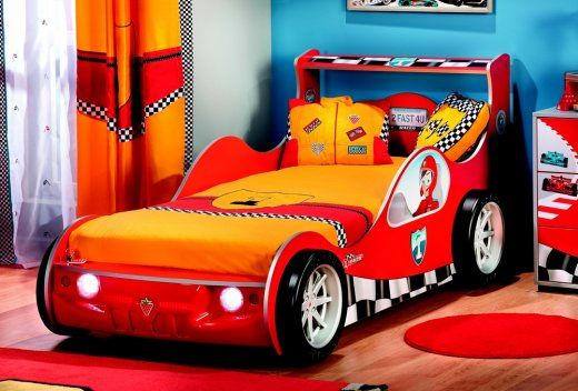 Kinderzimmer Racer Cilek Racer Autobett 90x190 Kinder