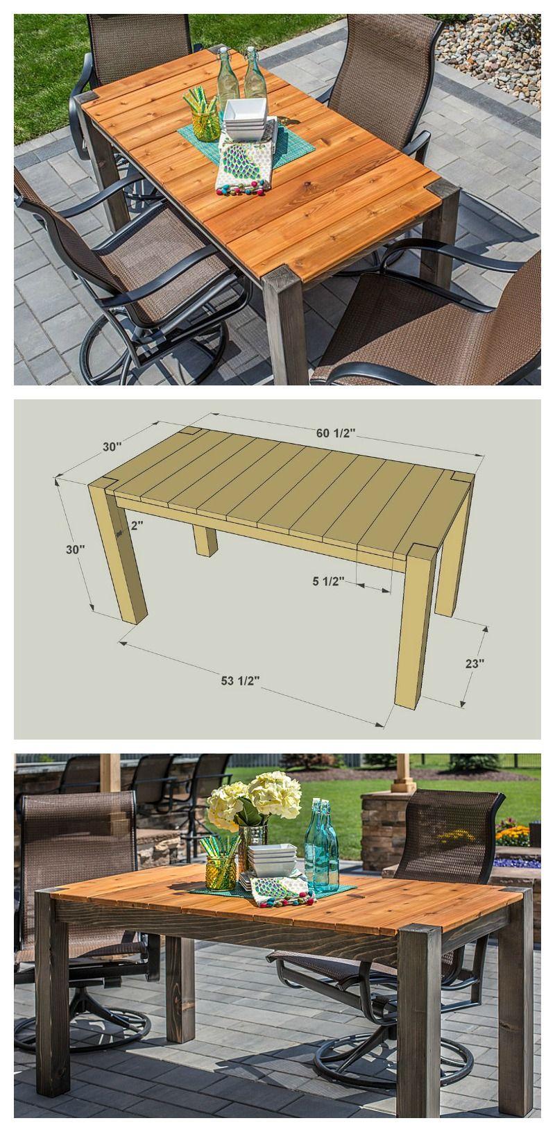 Diy Cedar Patio Table Free Plans At Buildsomething Com Diy